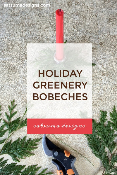 Holiday Greenery Bobeches (candle rings)