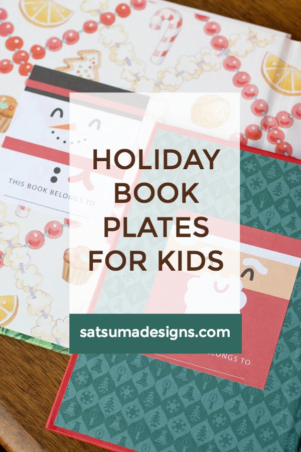 Holiday Book Plates for Kids