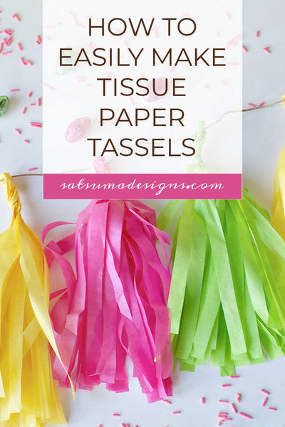 Easy Easter Tissue Paper Tassel Garland