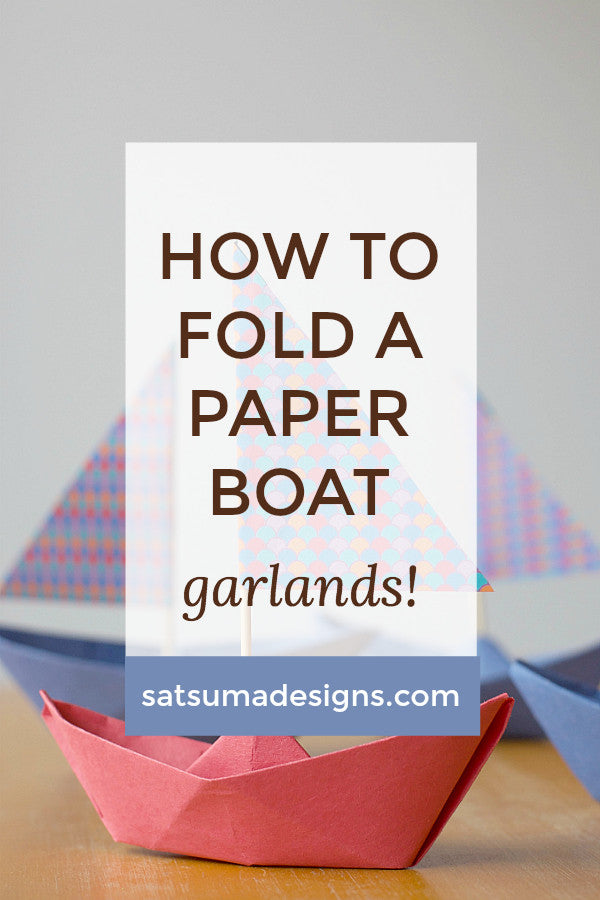 How to Fold a Paper Boat | Paper Boat Garland