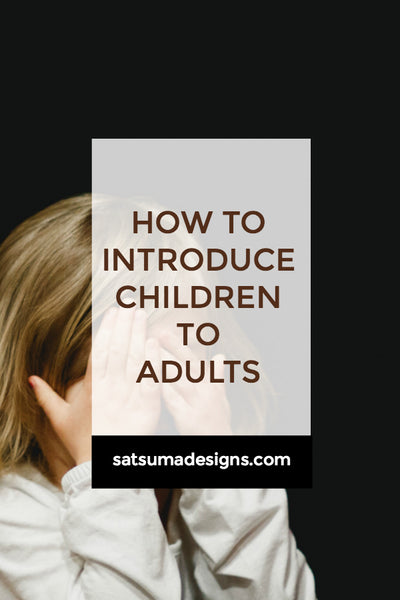 How To Introduce Children To Adults