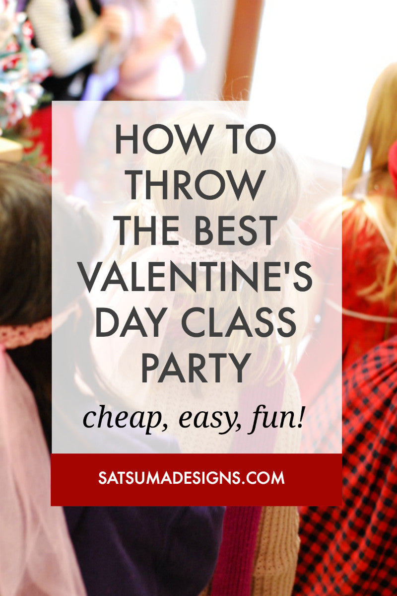 DIY Classroom Valentine's Party