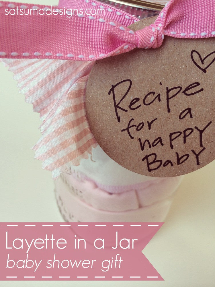 Layette in a Jar Baby Shower Gift