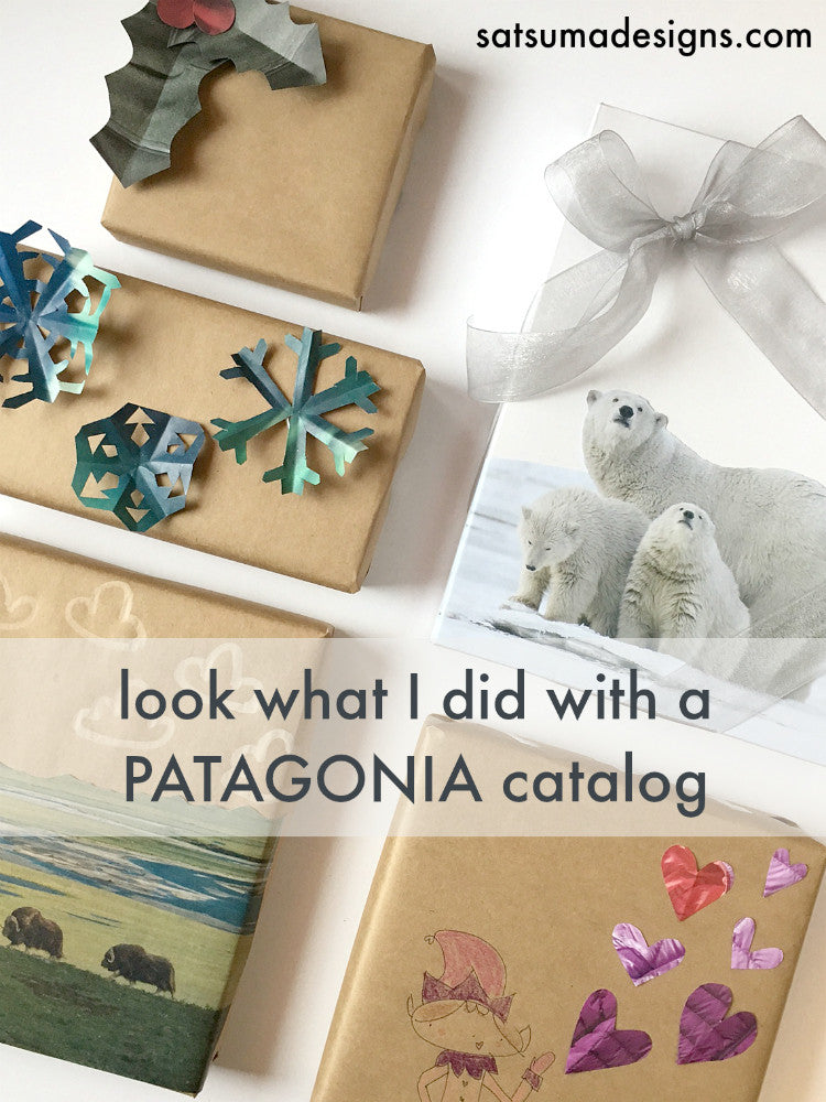 How I Wrapped All My Christmas Gifts with a Patagonia Catalog