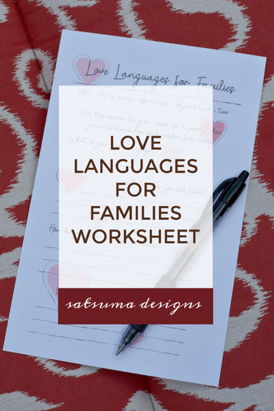 Love Languages for Families Worksheet