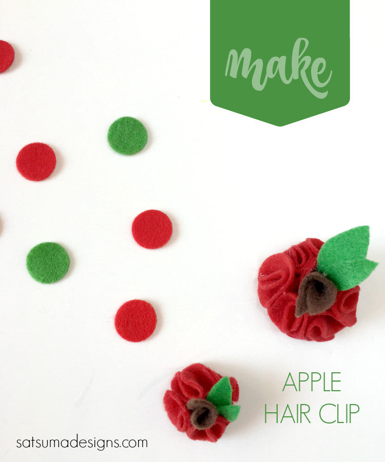Felt Apple Hair Clip
