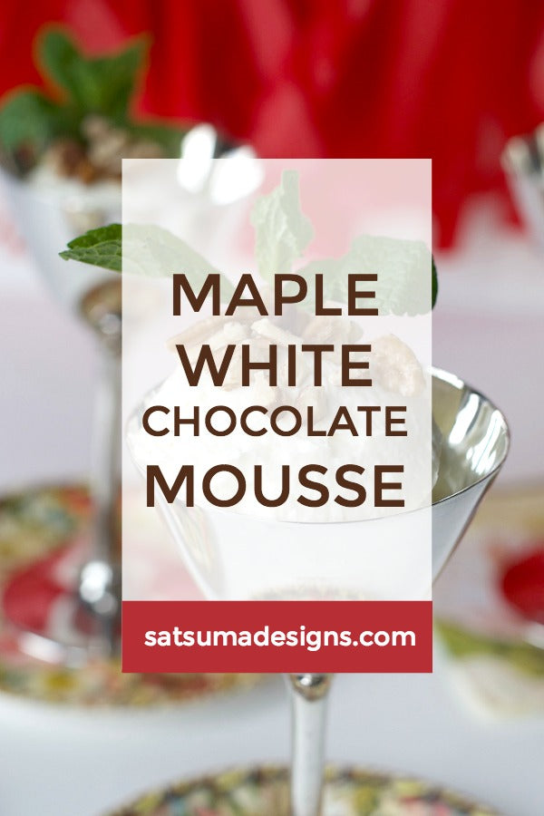 Maple White Chocolate Mousse