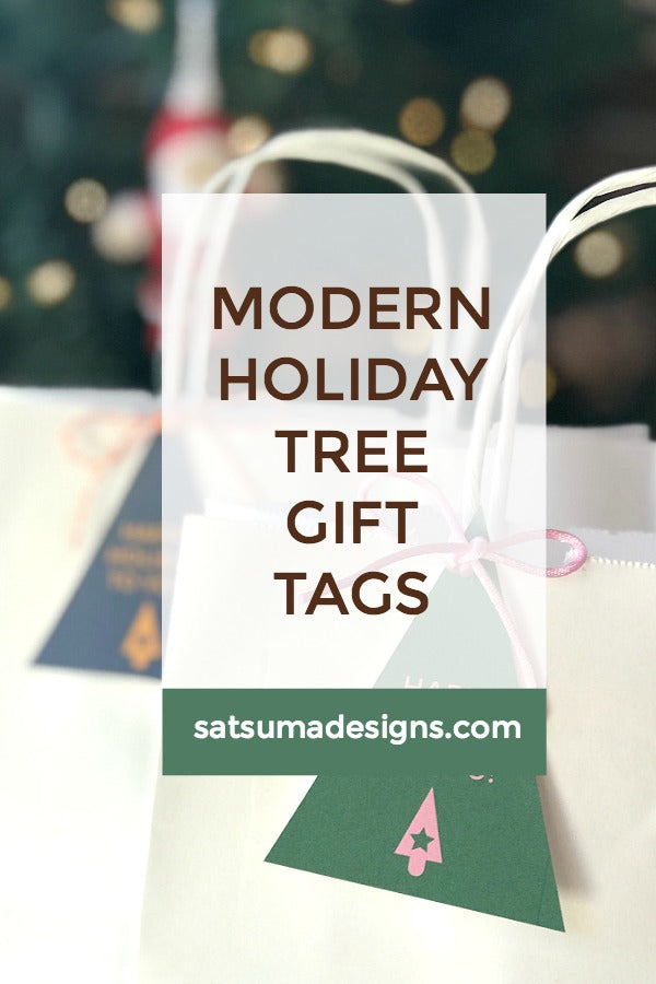 Modern Holiday Tree Gift Tags