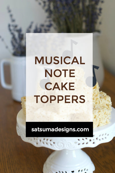 Musical Note Cake Toppers | Free SVG File