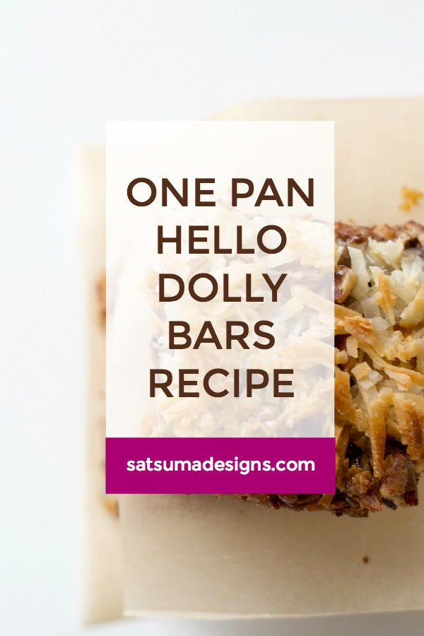 One Pan Hello Dolly Bars Recipe