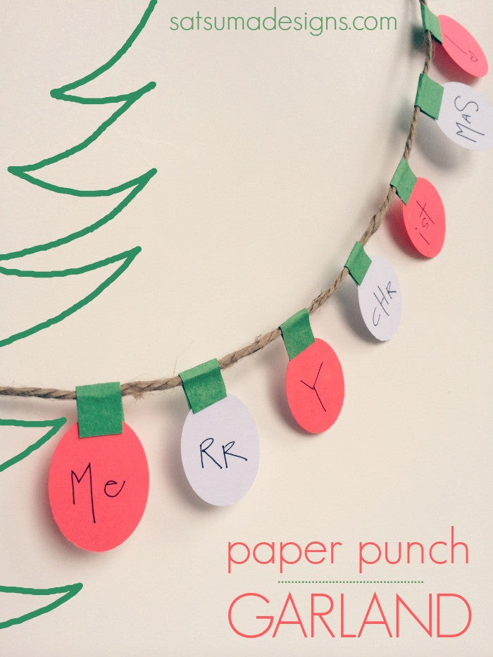 Paper Punch Garland