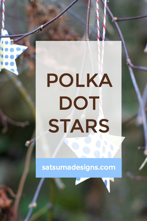 Polka Dot Paper Star Ornaments | Free Printables