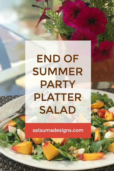End of Summer Party Platter Salad | Peach, Arugula and Mozzarella
