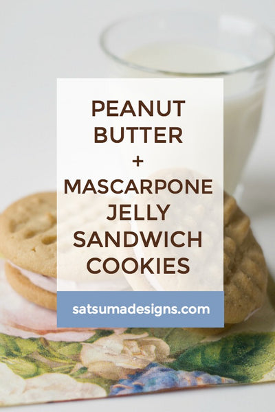 Peanut Butter Mascarpone Jelly Sandwich Cookies