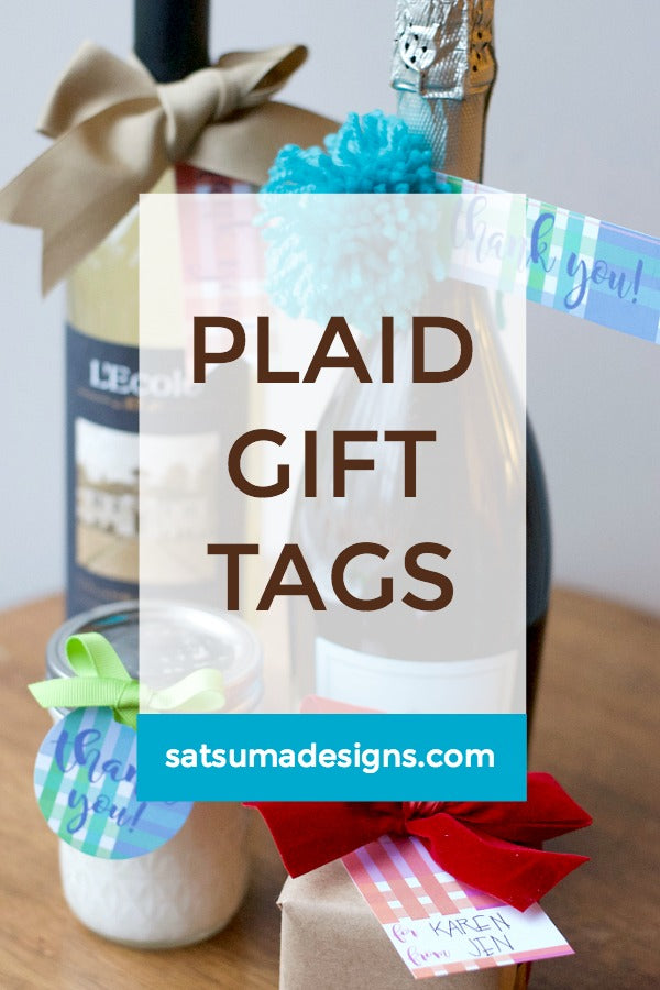 Holiday Plaid Gift Tags | Printables