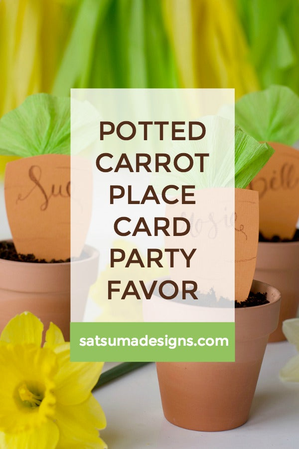 Potted Carrot Place Card and Party Favor