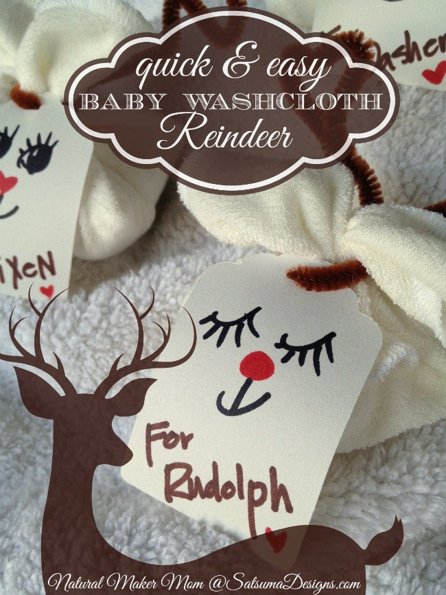 DIY Washcloth Reindeer