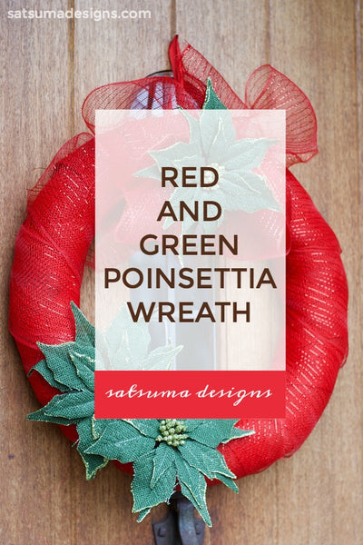 Red and Green Poinsettia Wreath