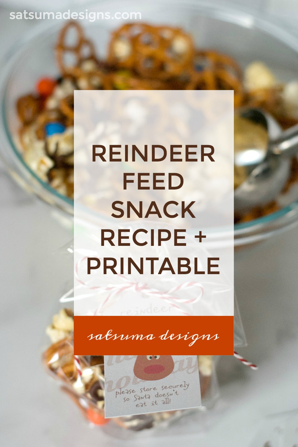 Reindeer Feed Snack Recipe and Printable