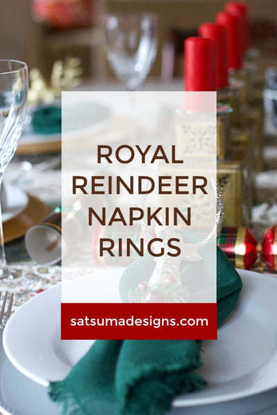 Royal Reindeer Napkin Rings