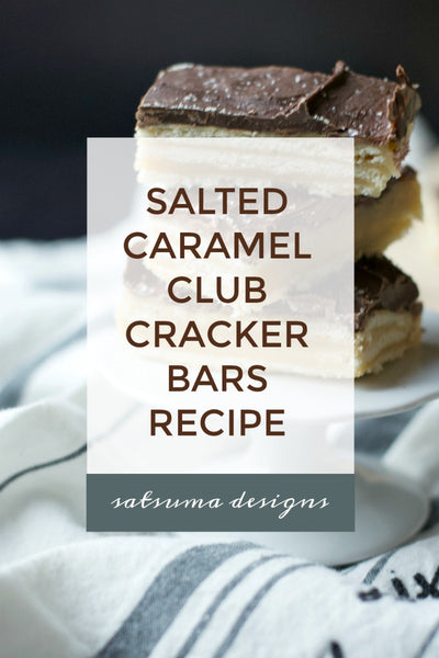 Salted Caramel Club Cracker Bars Recipe