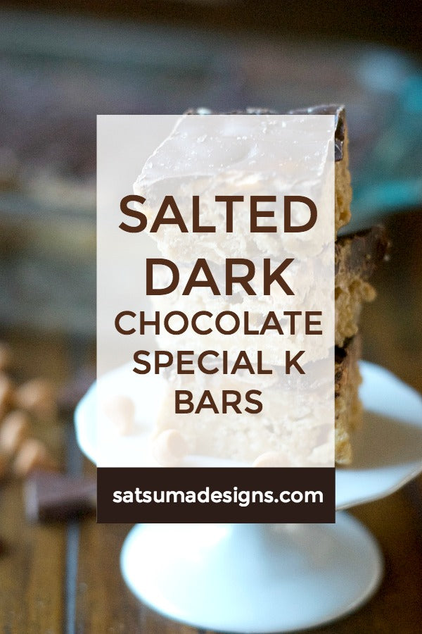Salted Dark Chocolate Special K Bars Recipe