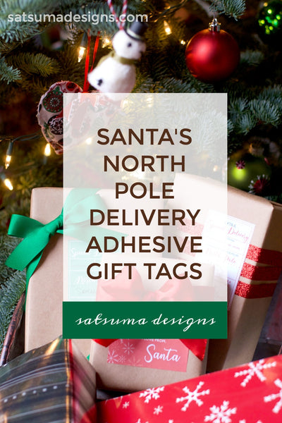 Santa's North Pole Delivery Adhesive Gift Tags