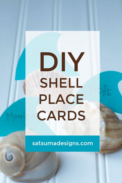 DIY Shell Place Cards