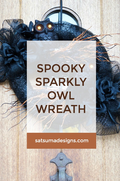 Spooky Sparkly Owl Wreath
