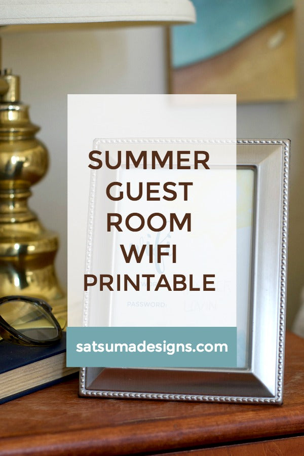 Summer Guest Room WIFI Printable