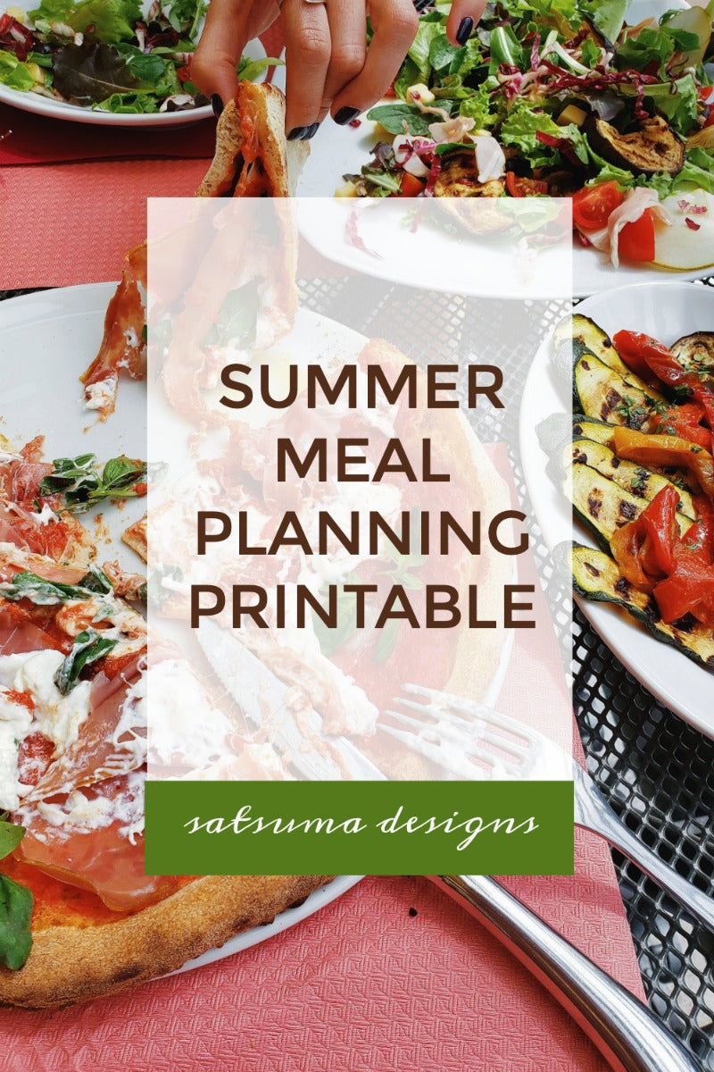 Summer Meal Planning Printable