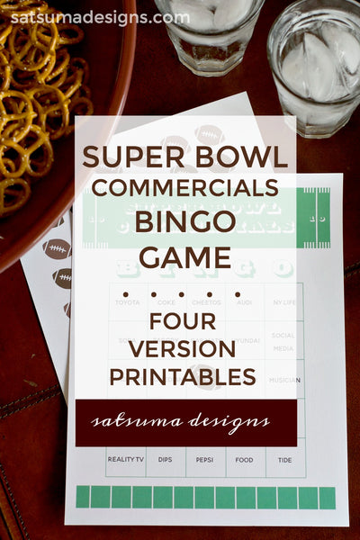 Super Bowl 54 Commercials Bingo Printable