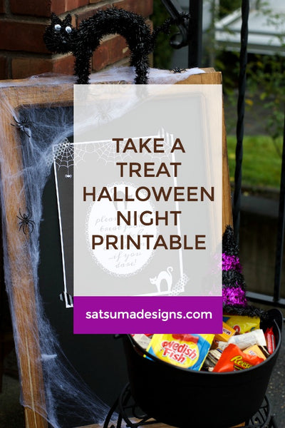 Take a Treat Halloween Night Printable