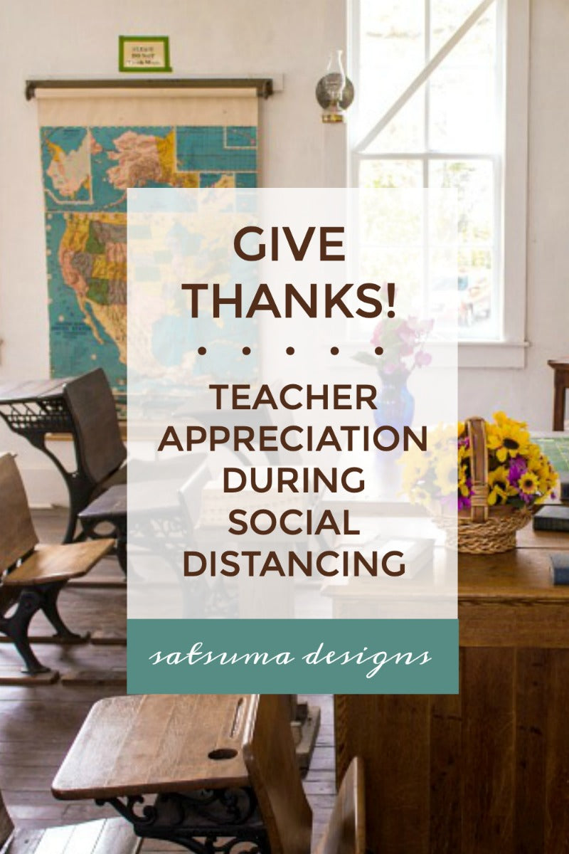 Teacher Appreciation During Social Distancing