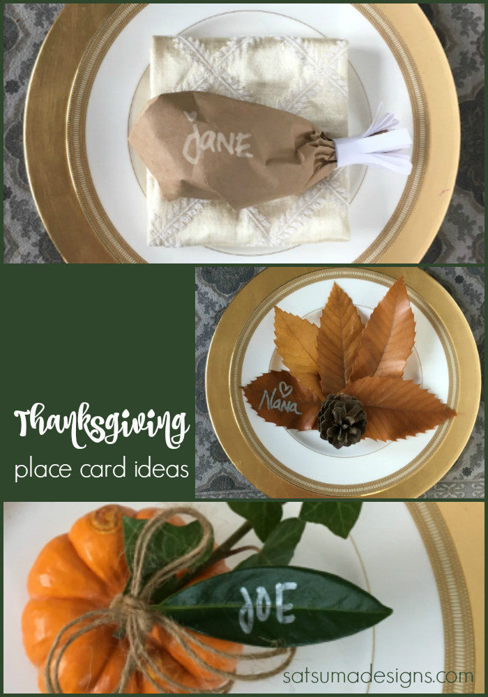 Quick and Easy Thanksgiving Place Card Crafts