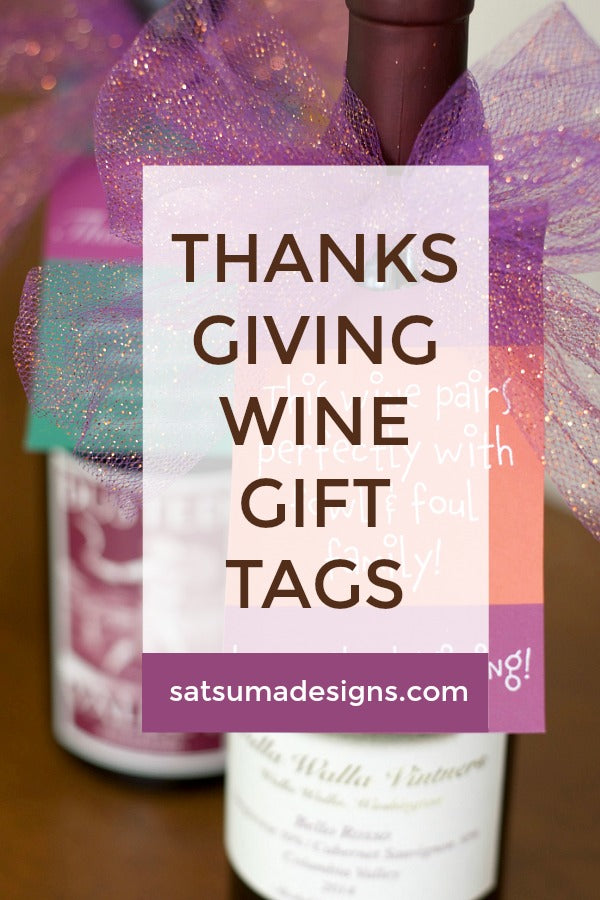 Thanksgiving Wine Bottle Gift Tag | Free Printable