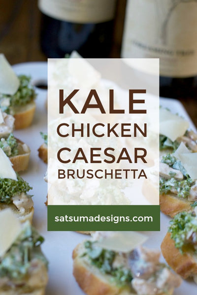 Kale Chicken Caesar Bruschetta