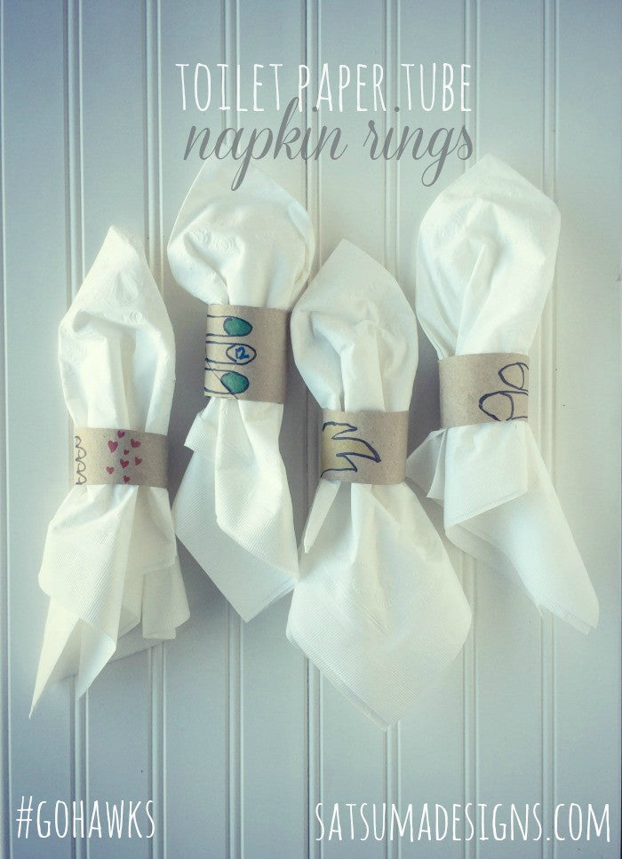 Toilet Paper Tube Napkin Rings