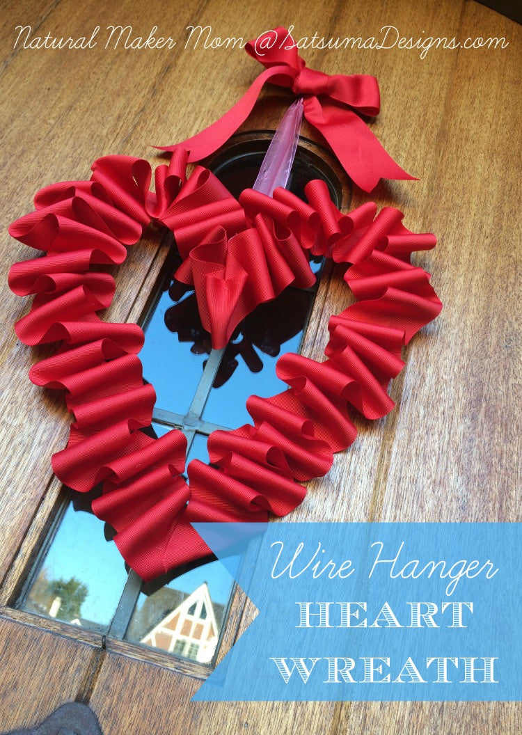 DIY Wire Hanger Heart Wreath