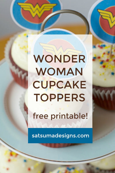 Wonder Woman and Hawk Girl Cupcake Toppers