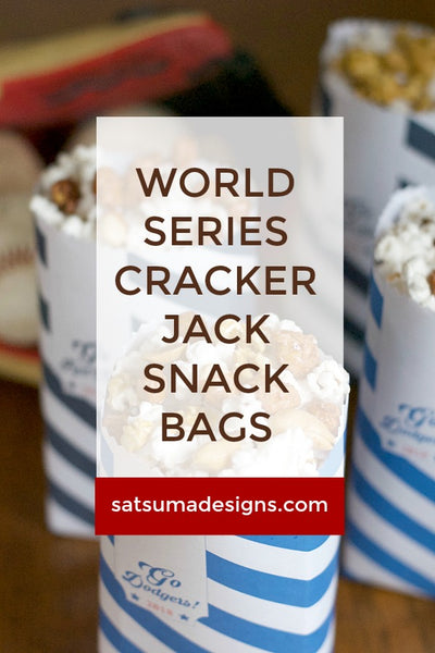 World Series Cracker Jack Snack Bags | Free Printable