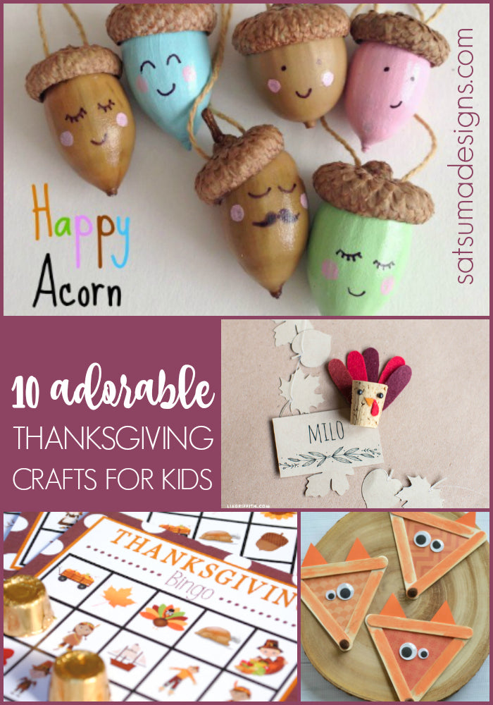 10 adorable thanksgiving crafts for kids