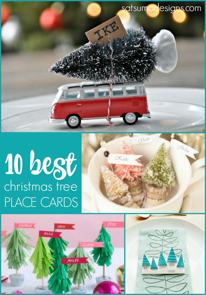 10 best diy christmas tree place cards