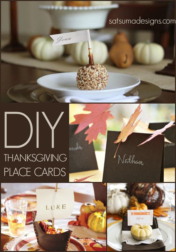 10 best diy thanksgiving place cards