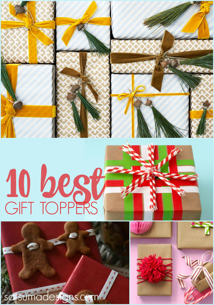 10 Best DIY Christmas Gift Toppers That Don\'t Require a Michaels ...
