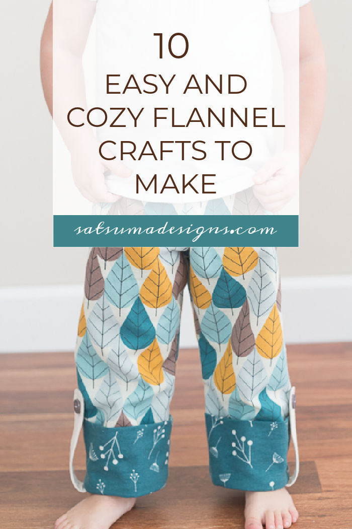 10 cozy flannel crafts to makes this winter. Easy to sew and no-sew options for beginning sewers. #sewing #flannel #crafts #craftsforkids