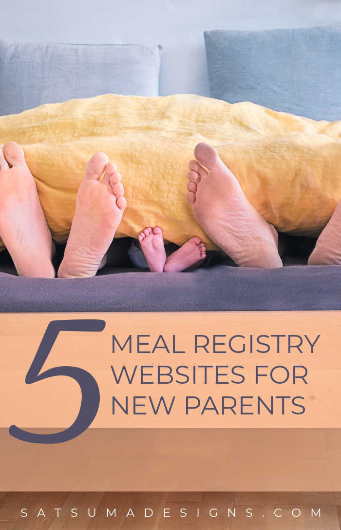 5 best meal registry websites for new parents. Discover these online resources to create meal trains and meal delivery sign-ups for new parents. Gather friends and create a 14 day meal train to feed tired and hungry new parents! #newparents #parenting #parenthood #newmom #newdad #newmama