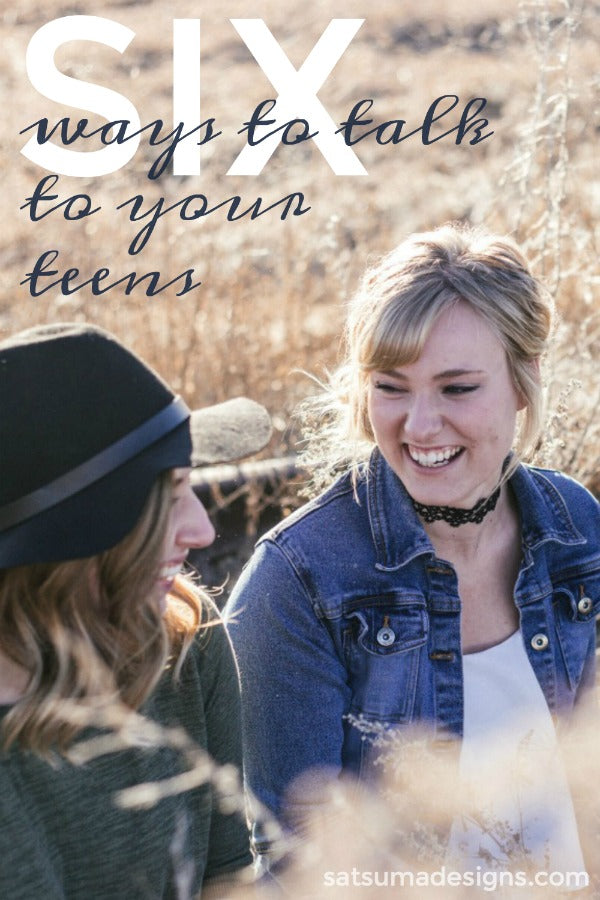 6 easy ways to talk to your tweens and teens about how their day went. If your teens and tweens are silent when they get home from school, here are some tested methods to get the conversation flowing. #parenting #talktokids #schoollife #parentlife #teenlife #tweenlife #family #familytime #humor #satsumadesigns