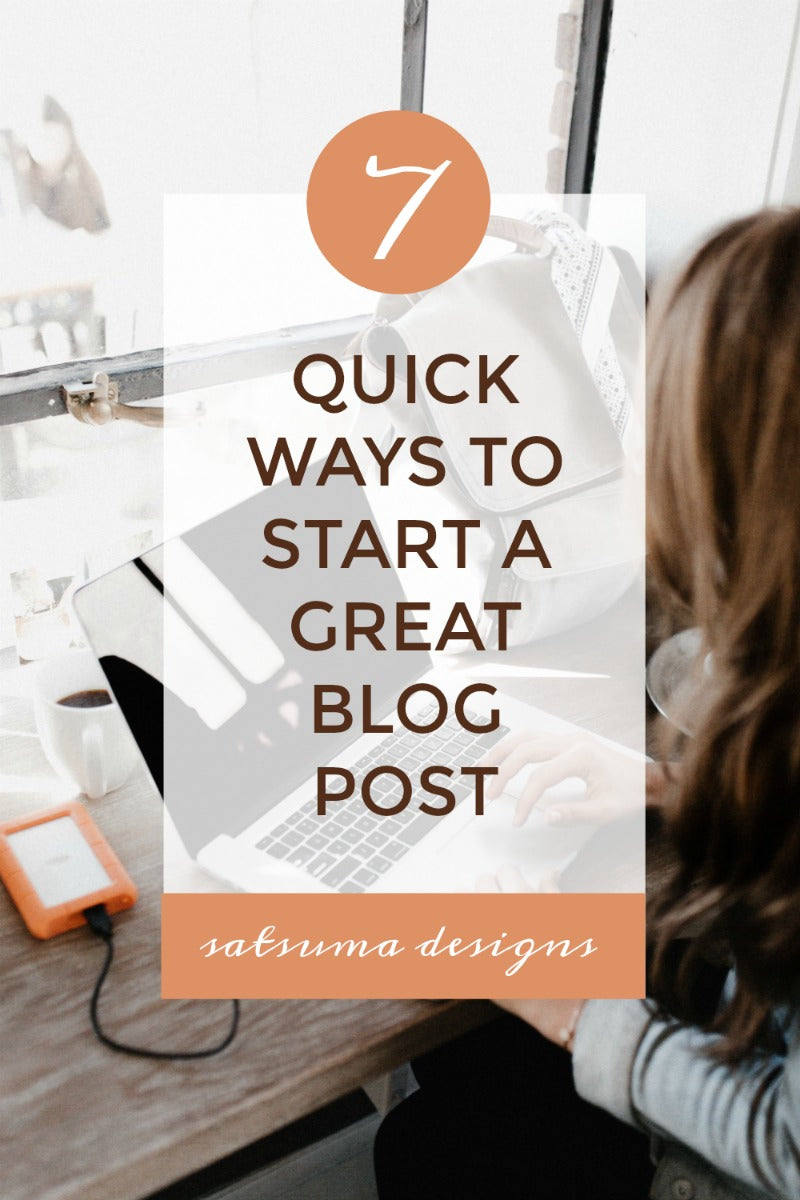 7 quick ways to start a great blog post. What to say in your first sentence? Let me help you with a formula for great first sentences in each new blog post. #blogger #blogpost #bloggers #blogging #bloggingtips #bloggingtricks #blogplanning #momboss #bossbabe