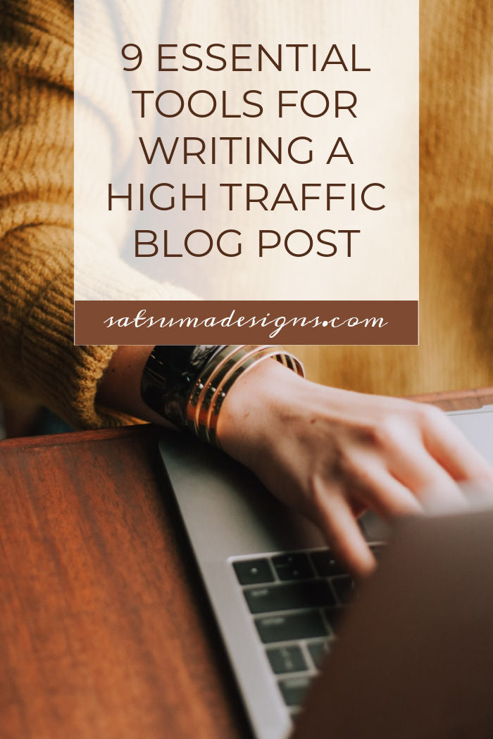 9 essential tools for writing a high traffic blog post. Discover free and easy to use tools to make quality blog post writing easy and effective. #SEO #blogging #blogger #webtool #searchterms #keywords
